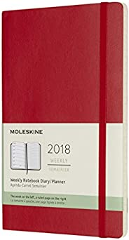 Moleskine 12 Month Weekly Planner, Large, Scarlet Red, Soft Cover (5 x 8.25)