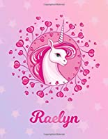 Raelyn: Unicorn Sheet Music Note Manuscript Notebook Paper | Magical Horse Personalized Letter R Initial Custom First Name Cover | Musician Composer Instrument Composition Book | 12 Staves a Page Staff Line Notepad Notation Guide | Compose Write Songs