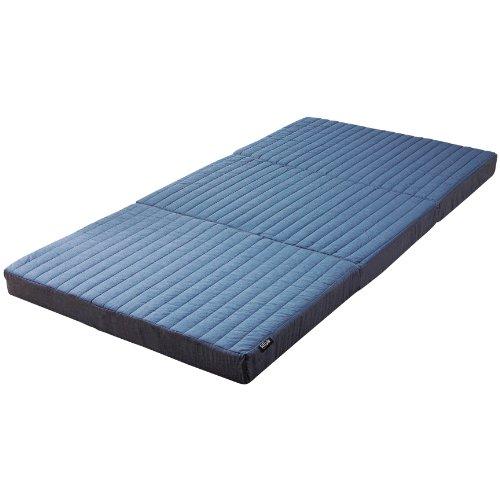 SLEEple Achilles アキレス マットレス ダブル 三つ折り プロファイル加工 硬質バランスマットレス 10cm厚 日本製 ブルー