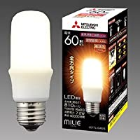 三菱 【ケース販売特価 10個セット】 LED電球 《MILIE ミライエ》 T形 全方向タイプ 一般電球形 60W形相当 全光束810lm 電球色 E26口金 LDT7L-G/60/S_set