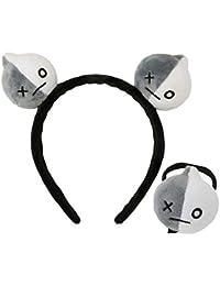 BTS カチューシャ 防弾少年団 ヘアゴム 髪飾り BT21 ヘアアクセサリー 女の子 男の子 贈り物 (Grey)