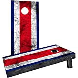 Custom Cornhole Boards CCB1200-C-RH Worn National (Costa Rica) Flag Cornhole Boards [並行輸入品]