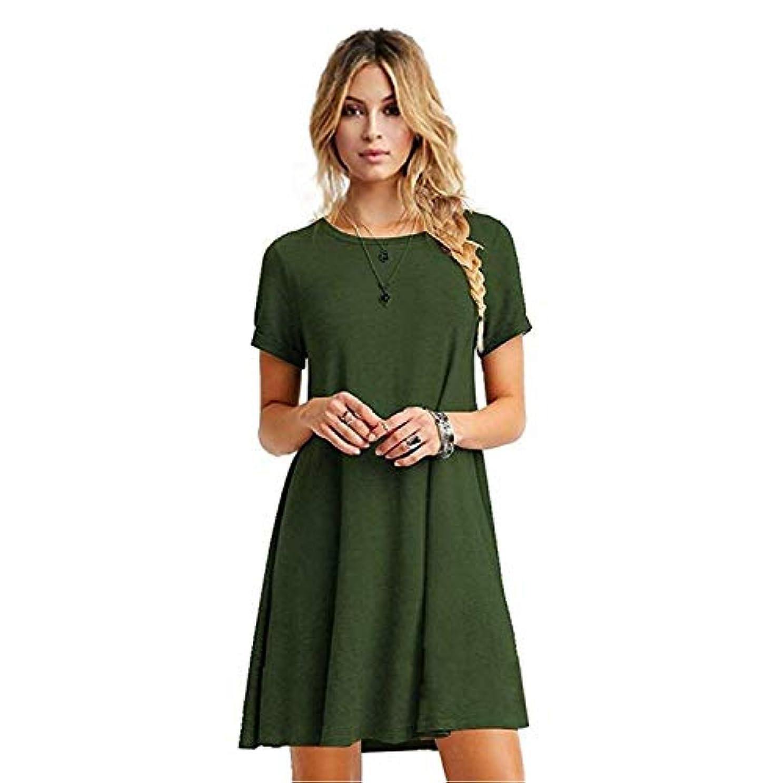 ゼロ多用途怒っているMIFAN女性のファッション、カジュアル、ドレス、シャツ、コットン、半袖、無地、ミニ、ビーチドレス、プラスサイズのドレス