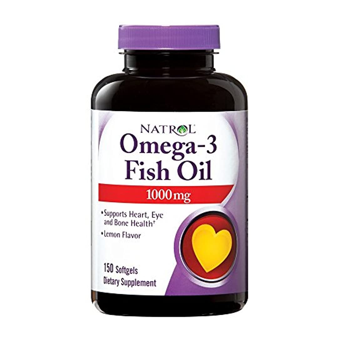 法医学寛大な乳製品Omega-3 Fish Oil Lemon - 1000 mg - 150 Softgels by Natrol