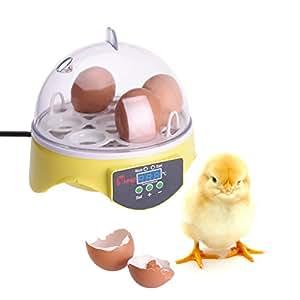SUND 7枚 Mini 手動転卵式孵卵器 孵卵機 孵化器 インキュベーター簡単操作