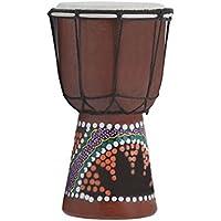 Fityle マホガニー ジャンベ ボンゴ アフリカスタイル ドラム 打楽器 ハンドパーカッション