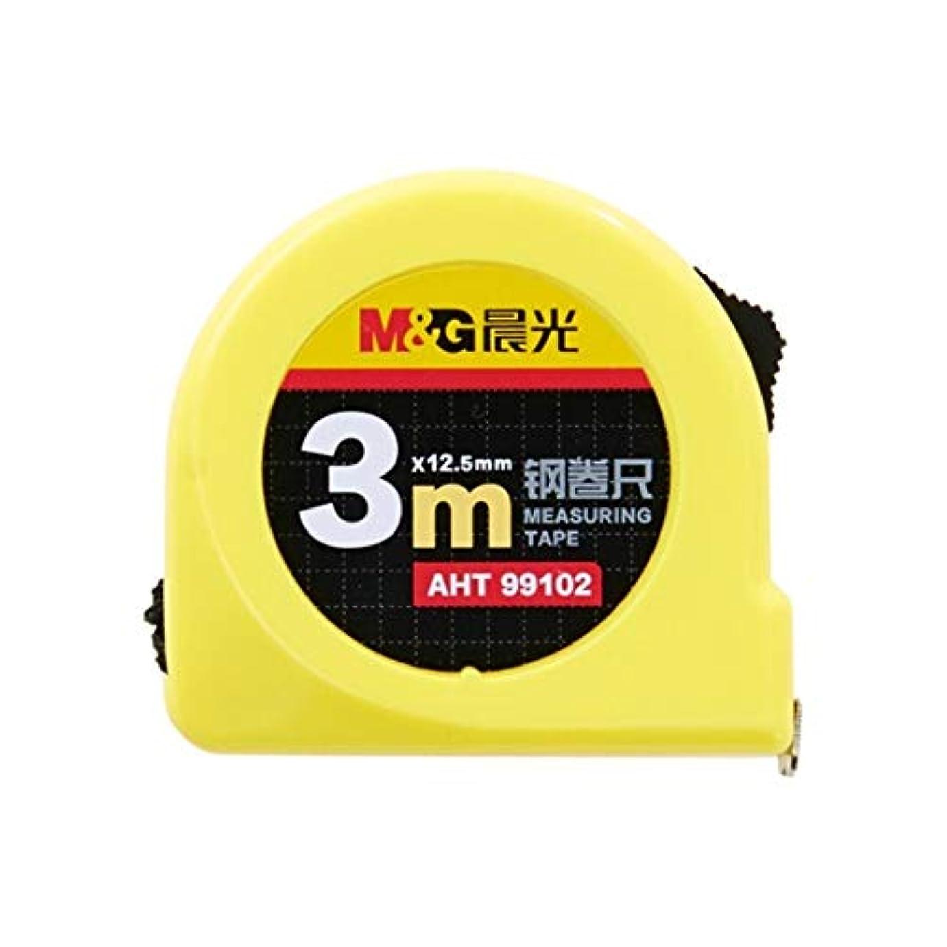 中に針マインドフルYVCHEN 家庭用、電気技師修理、工事現場、オフィス:ツール、アプリケーションの範囲を測定メジャーリトラクタブルメトリック測定テープのセルフロッキング (Size : 3m*12.5mm)