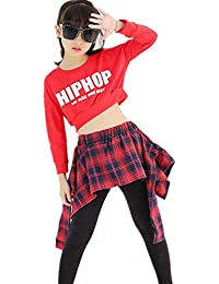 S5202子供上下セット2点 ダンスウェア キッズ 女の子 長袖Tシャツ+パンツ ダンス衣装 ジュニア 大人から子供まで 身長110-180cm