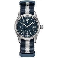 Hamilton H68201043 Khaki Field Quartz Men's Watch Blue/White Stripe NATO