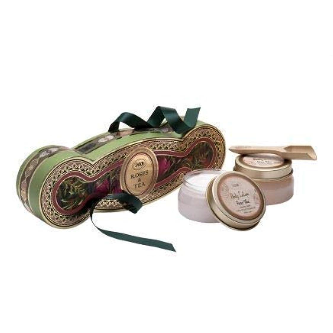 うねる花輪アラブサボン コフレ ギフト ローズティー キット ボディスクラブ ボディローション ホワイトデー SABON Rose Tea kit コレクション