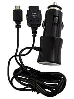 エアージェイ 車載シガーソケット用DC充電器 スマートフォン/microUSB/FOMA softbank3G携帯電話2台同時充電対応 ブラック DKJ-TWFM