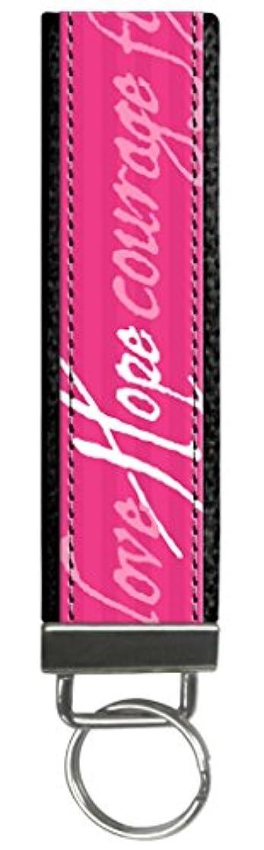 メダリスト対処海峡Snaptotes 乳がん啓発 ピンク ホープリストレット キーフォブ キーチェーン ワンサイズ