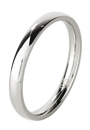 新宿銀の蔵 2mm幅 プレーン 平甲丸 サージカルステンレス リング 7〜21号 (15号) ステンレス 指輪 メンズ おしゃれ 人気 シンプル
