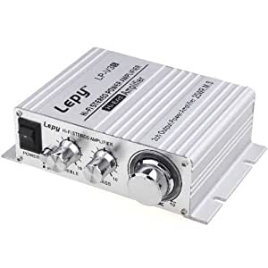 Lepy ステレオアンプ LP-V3S 【BOSE社パワーIC使用】V3S シルバー