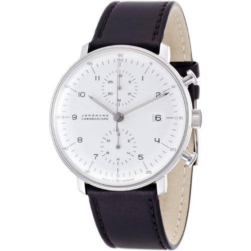 [ユンハンス]JUNGHANS 腕時計 自動巻き マックスビル クロノスコープ 027 4800 00 メンズ 【正規輸入品】