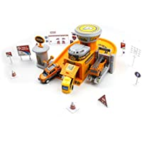 Utility repair mechanical shop play toy - a fun engineering fix station with parking