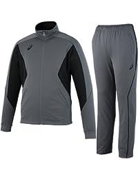 [アシックス] トレーニングジャケット&パンツ 上下セット カーボングレー EZT143 92/EZT243 92