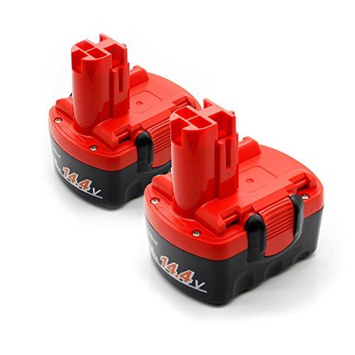 LENOGE ボッシュ 14.4V BAT038 BAT040 2607335** 互換 バッテリー [二個セット] BOSCH 2607335711 2607335534 BAT041 BAT140 BAT159 工具用 ニカド電池 2Ah レッド