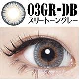 スリートーングレー  15.0mm コンタクトフィルム 1ヶ月用 度あり 1枚 UV加工カラコン black Color Contact lens (-3.50)