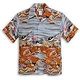 MAKANALEI(マカナレイ) アロハシャツ Japanese Robin AMT-018/GRAY
