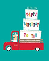 The Art File Happy Birthday to You, Cake and Candles on Truck, 1 Count, Multi Coloured