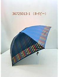 ノーブランド品 折畳傘 婦人 甲州産先染格子軽量短日本製 丸ミニ折畳雨傘