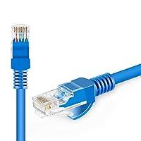 「3本/セット」 ランケーブル LAN ケーブル 16m パソコン CAT5E ツメ折れ防止カバー付き 金メッキピン PVC素材 LANケーブル 16メートル (ブルー)