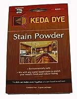 レッドDye by Keda Dye–( 25)グラムのレッド木製Dye–Makes 5Dye Stain Quarts