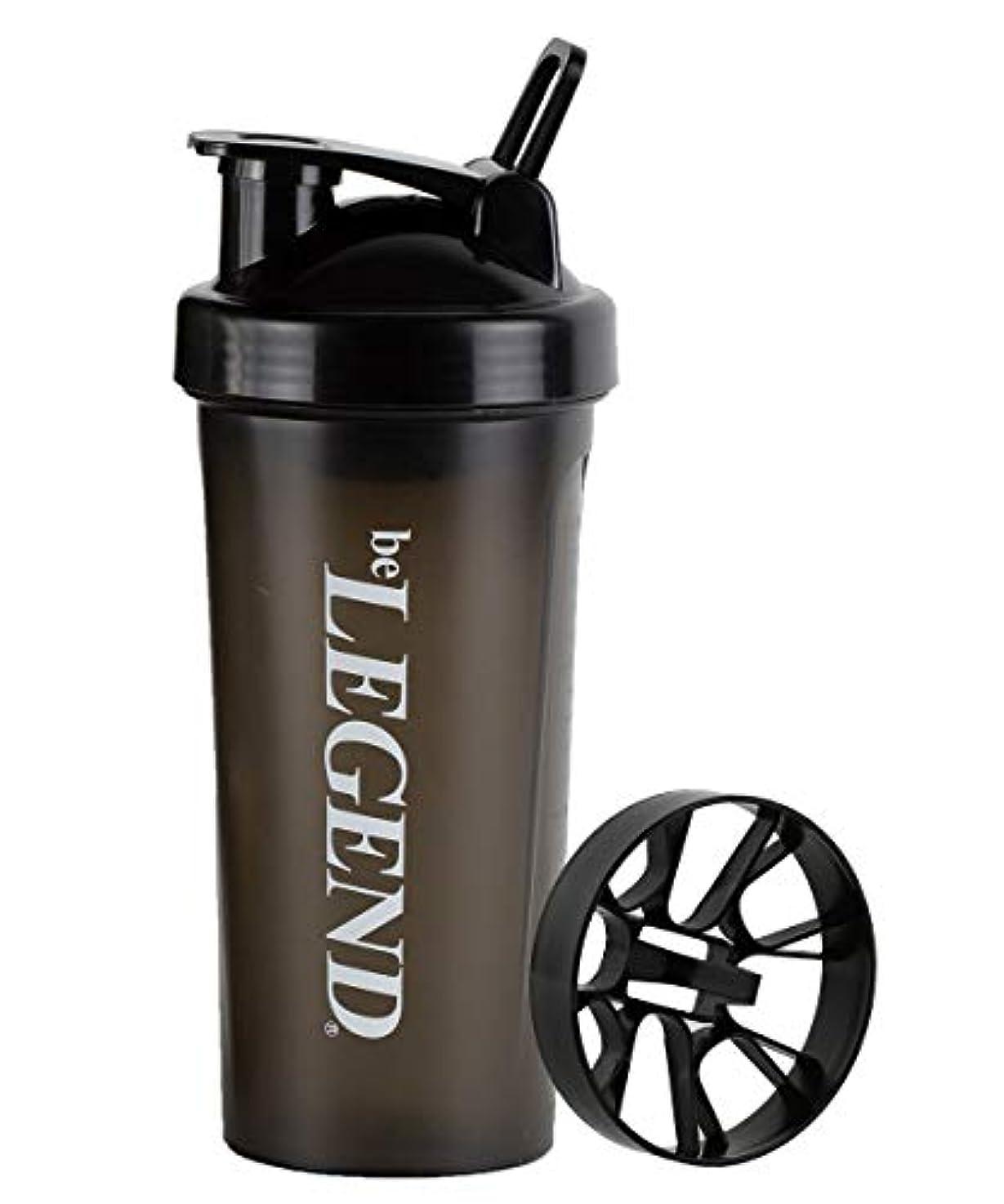 (シェイクネット付)ビーレジェンド シェーカーボトル ブラック 600ml