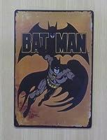 バットマン 金属製 メタルサインプレート TB BATMAN DCコミック アメコミ ヒーロー 看板 ブリキ アンティーク ガレージ インテリア 広告 カフェ 店舗備品