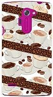 液晶保護フィルム 付 イサイ ビビッド lgv32 isai vivid ISAI VIVID ハード カバー ケース コーヒーとコーヒー豆 au スマホケース エーユー スマホカバー デザインケース