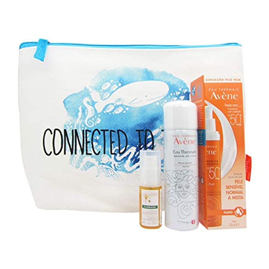 王女更新するうめき声Avène Solar Kit Fluid 50+ 50ml + Thermal Water Spray 50ml + Klorane Ylang Ylang Oil 10ml