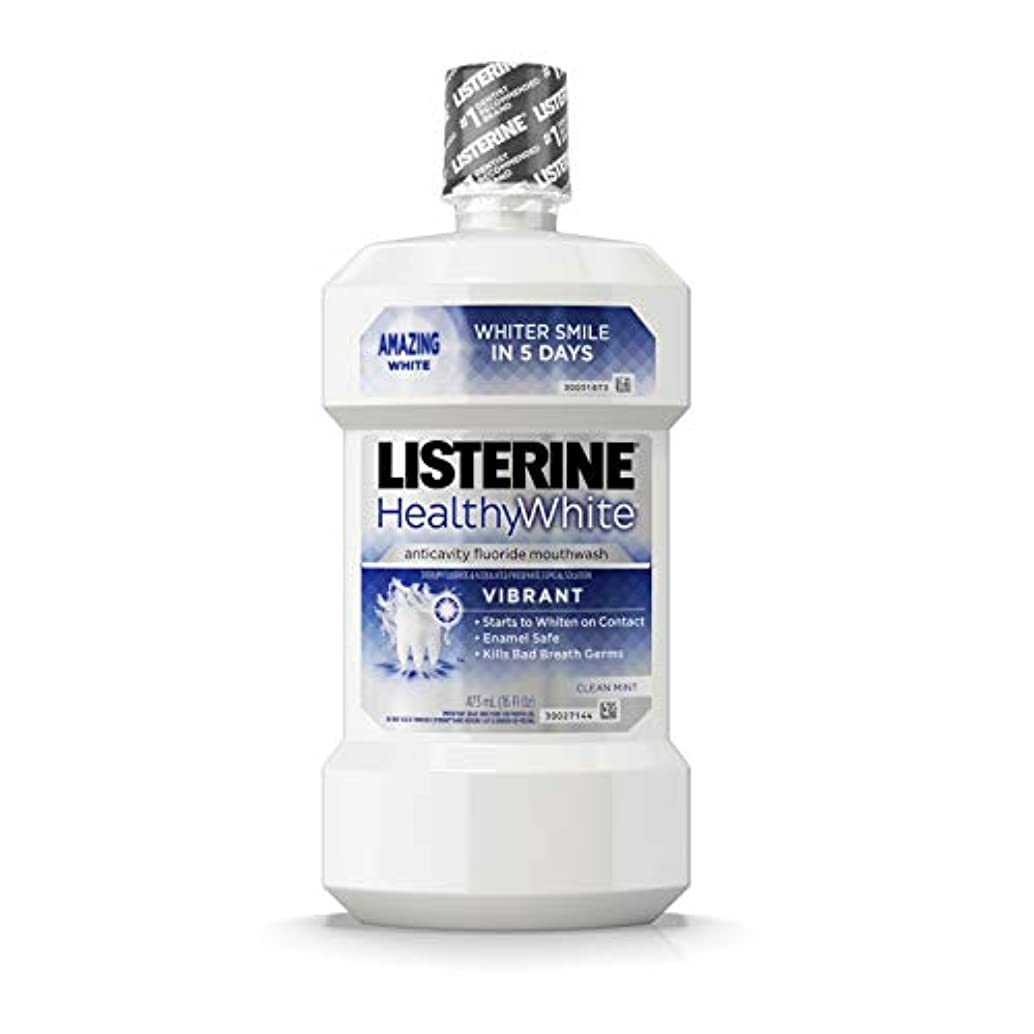 浸食一緒ブランドListerine 健康的な白い鮮やかなマルチアクションフッ化物口リンス、発泡虫歯予防マウスウォッシュ歯のホワイトニング口臭、16フロリダファイティングください。オズ