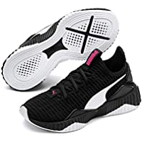 PUMA Girls DEFY PS Sneaker, Black White