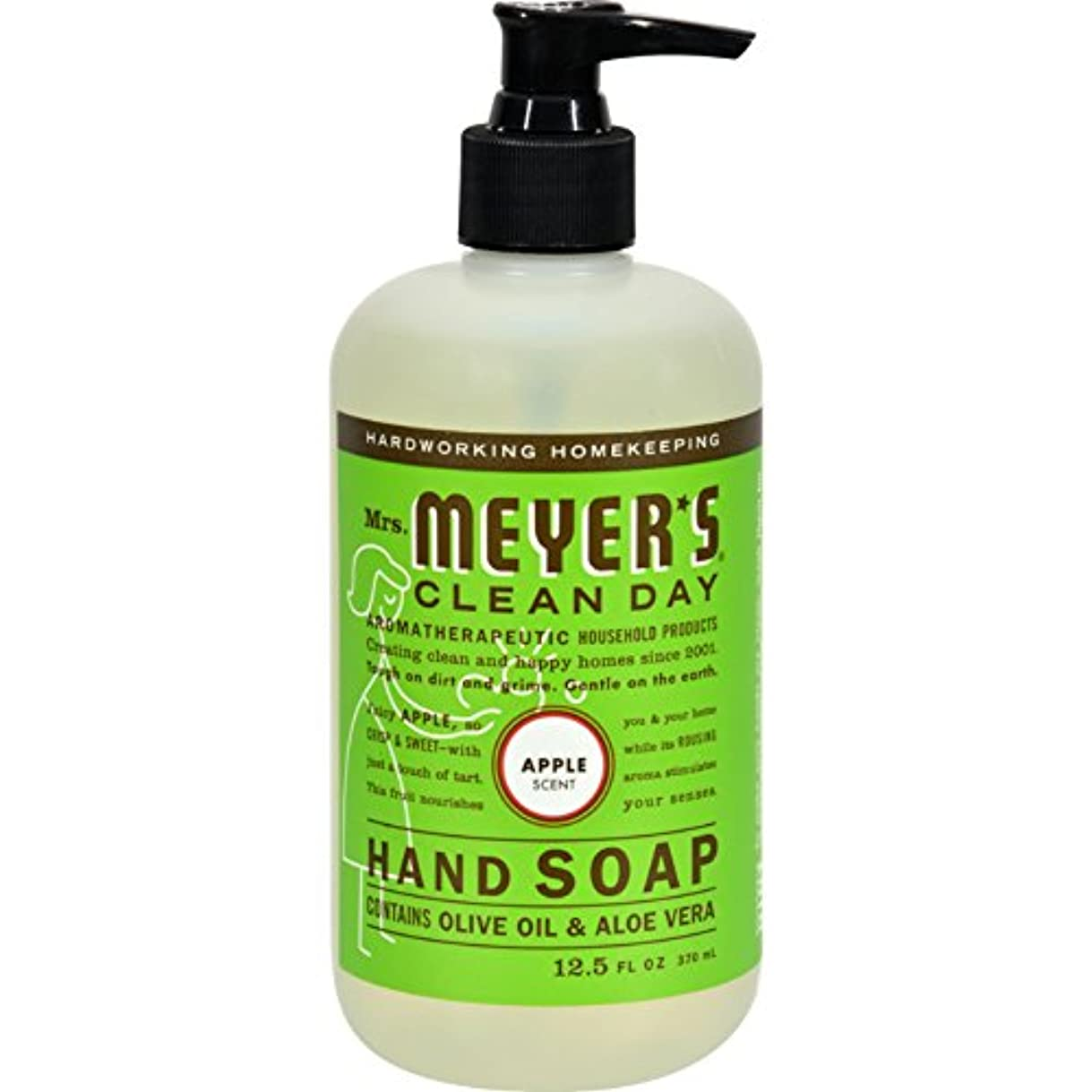 メタルライン同封するフェザーLiquid Hand Soap - Apple - Case of 6 - 12.5 oz by Mrs. Meyer's