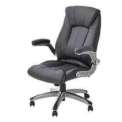 オフィスコム 社長椅子 オフィスチェア パソコンチェア 可動ひじ付き 肉厚座面 ハイバック レクアス ブラック