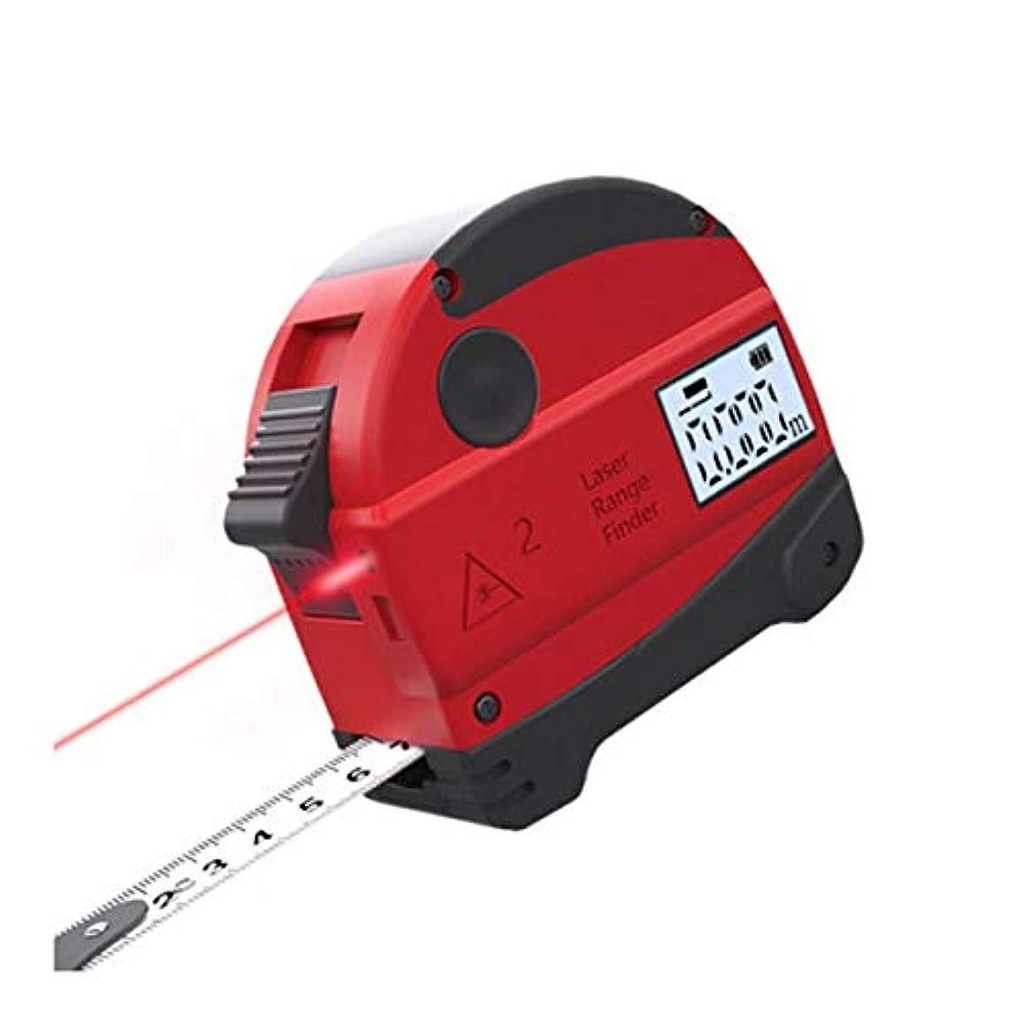 平行楕円形漁師CHAHANG スチール巻尺、レンジファインダー、高精度ハンドヘルド距離測定器、電子定規、インテリジェントデジタルディスプレイ、大工定規、自動ロックスチール巻尺、5mボックス定規測定ツール40M距離測定テープ (Size : A)