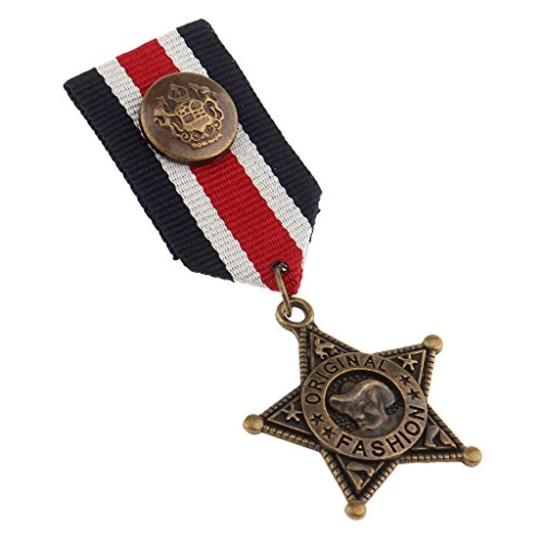 dovewillユニセックスヴィンテージ海軍スタイルスーツStar Medalブローチラペルピンパンクジュエリーギフト