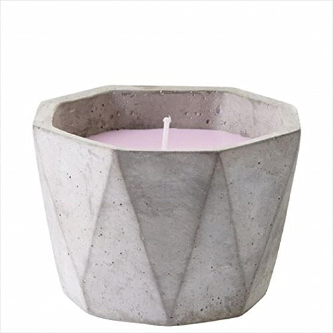 外出幾何学歯科医カメヤマキャンドル(kameyama candle) POiNT A LA LiGNE セメントポットセンティッドキャンドル 「 マグノリアセージ 」