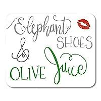 象の靴が大好き、オリーブユーロマンティック彼女の彼マウスパッド