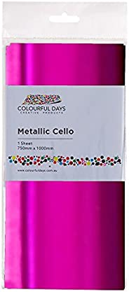 Colourful Days Cello Sheet, 750x1000mm, Metallic Pink