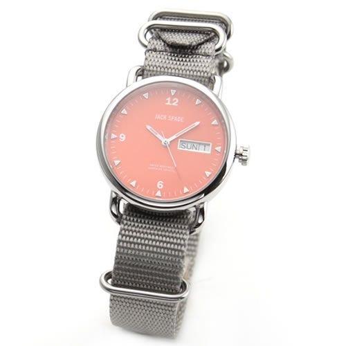 [ジャックスペード] JACK SPADE 腕時計 Conway (コンウェイ) &スポーティ ナイロンベルト オレンジ×グレー WURU0029 [並行輸入品]