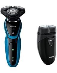 フィリップス メンズシェーバー 5000シリーズ S5050/05 + メンズ ポケットシェーバー ブラック PQ209/17 セット