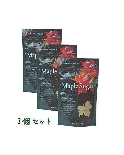 メープルシュガー さらさらメープルシロップ100%顆粒 170g ≪お得セット/メール便≫ (3個セット)