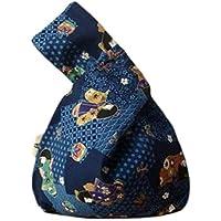 Japanese Kimono Knot Bag Totes Wallet Satchels Beach Bag Small Size-A45