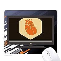 体の器官のハートライト ノンスリップラバーマウスパッドはコンピュータゲームのオフィス