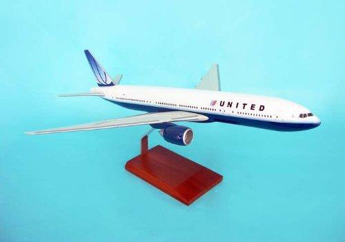 1: 100 エグゼクティブシリーズ ユナイテッド 航空 ボーイング 777-200 New Colors with Wooden Base (並行輸入)