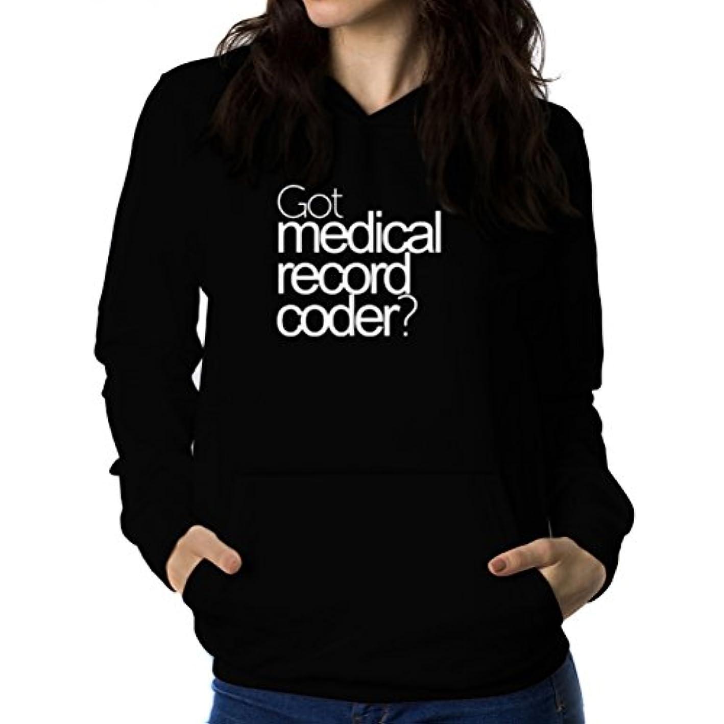 道路悪いのホストGot Medical Record Coder? 女性 フーディー