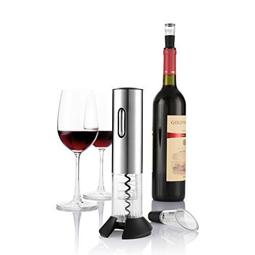 Zanmini 電動ワインオープナー USB充電式 ワインセーバー ワインロート フォイルカッター USBケーブル付き プレゼント お祝い