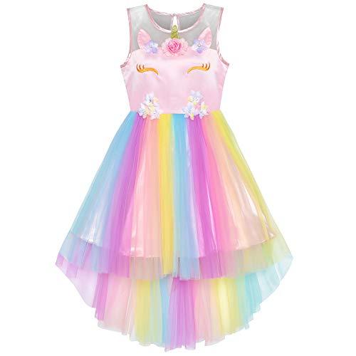 子供ドレス フラワードレス ユニコーン レインボー ハロウィ...